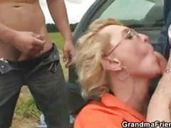 Old bitch takes two cocks outdoors movies at find-best-videos.com