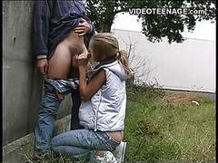 Blonde teen outdoor blowjob videos