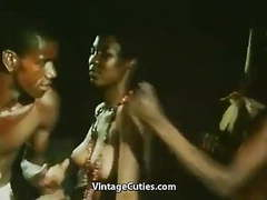 Topless african girl doing a tribal dance (1970s vintage) movies at find-best-pussy.com