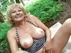 Busty granny gets fucked in the forest videos