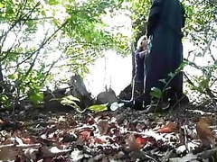 Granny head #38 cheating with her co-worker in the forest videos