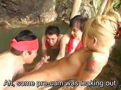 Subtitled japanese newhalf gyaru group onsen experience movies at sgirls.net