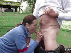 German milf mother sedcue to fuck outdoor by stranger movies at find-best-lingerie.com