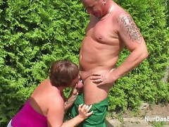 Mother seduce german young boy to fuck her in garden videos