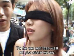 Subtitled extreme japanese public exposure blindfold prank movies at find-best-pussy.com