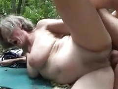 Horny granny fucked by a woodcutter videos