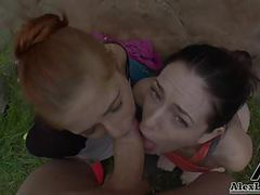 Hottest hiking 3some!alex legend fucks sarahshevon pennypax movies at freekiloporn.com