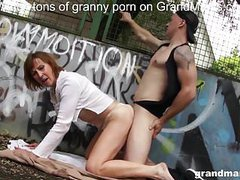 Granny enjoys public sex at the basketball court movies at kilogirls.com