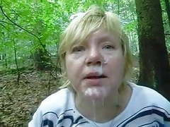 Wanking-off on her #35 busty thick mature in the forest videos
