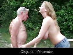Natural young juggs for overaged grandpa videos