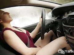 Busty jenny masturbating in the car movies at kilopics.net