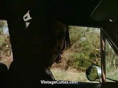Busty hitchhiker girl riding on cock in woods (vintage) movies at kilopills.com