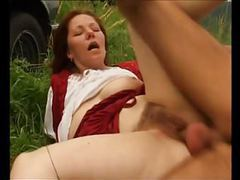 Hairy mature dana fucked outdoors videos