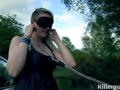 Slut girlfriend taken to woods and fucked by strangers videos