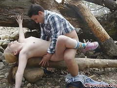 Public sex outdoors in the woods. lilly ligotage and rocko videos