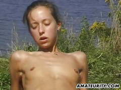 Amateur girlfriend outdoor suck and fuck action with facial videos