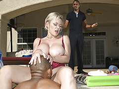 Poolside anal fuck with black stepson and curvy momma videos