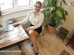 Mydirtyhobby - teen intern fucks her coworker in the office videos