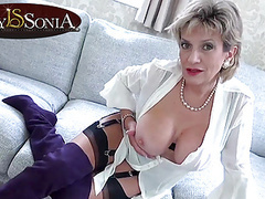 Your aunt sonia loves to help you jerk off your cock videos