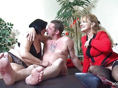 Old german couple at first threesome with big tits mature movies at find-best-tits.com