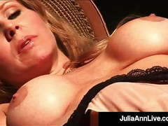 Hot busty milf julia ann finger bangs pussy in hot fishnets! movies at freekiloclips.com