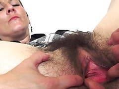 Milf with hairy pussy fucked by a young men videos
