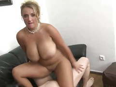 Gorgeous milf with shaved pussy used by her boss movies at kilogirls.com