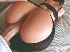 Hot amateur milf in sexy lingerie gets fucked in doggystyle tubes