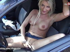 Busty german milf outdoors solo masturbation tubes