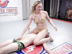 Riley reyes rough mixed wrestling with face sitting vs chad movies at freekilosex.com