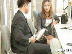 Slutty office korean girl fucks movies at freekilosex.com
