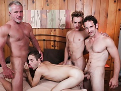 Twink boy stepson family pounding by stepdad grandpa and dad tubes