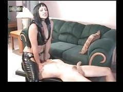 Slave must lick his mistress ass clean and satisfy her movies at freekiloporn.com