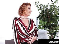 Slutty boss sara jay gets plump pussy eaten by dane arcadia! movies at find-best-videos.com