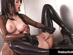 Latex babe rubberdoll worships & dildo fucks january seraph! movies at find-best-pussy.com