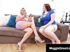 Mega melons maggie green & thick nympho nina kayy fuck bbc! movies at kilogirls.com