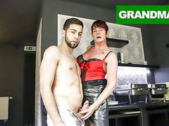 Slutty granny takes good care of her boy toy movies at find-best-pussy.com