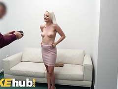 Fake agent desk fuck for petite blonde marilyn sugar tubes
