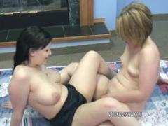 Veronica snow and angelica meow share a big dildo movies at kilosex.com