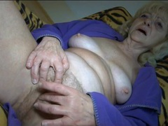 Solo blonde grandma masturbates hairy box movies at kilosex.com