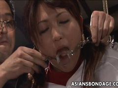 Hot asian cheerleader enjoys a round of bdsm. movies at lingerie-mania.com