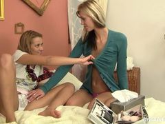 Blonde lesbians anna and cindy masturbating movies at find-best-lingerie.com