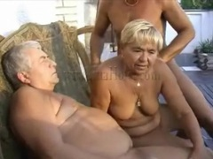 Grandpas and granny fool around outdoors movies at sgirls.net