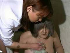 Nurse takes granny for her bath movies at sgirls.net