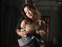 Tied up japanese girl fingered in her cunt videos