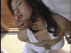 Flawless japanese beauty in extreme rope bondage tubes at japanese.sgirls.net