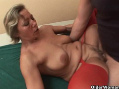 Lustful granny sucks cock and gets fucked videos