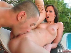 Sexy outdoor fuck with a lusty creampie videos