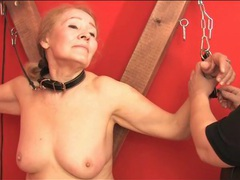 Bbw dominatrix plays with two submissives videos