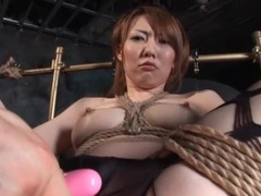 Tied up japanese girl vibrated through pantyhose videos